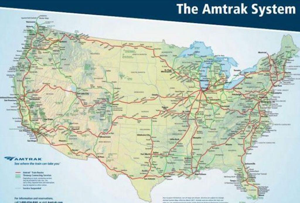 When And Where You Should Traveltrain Domestically - Amtrak Train Map California