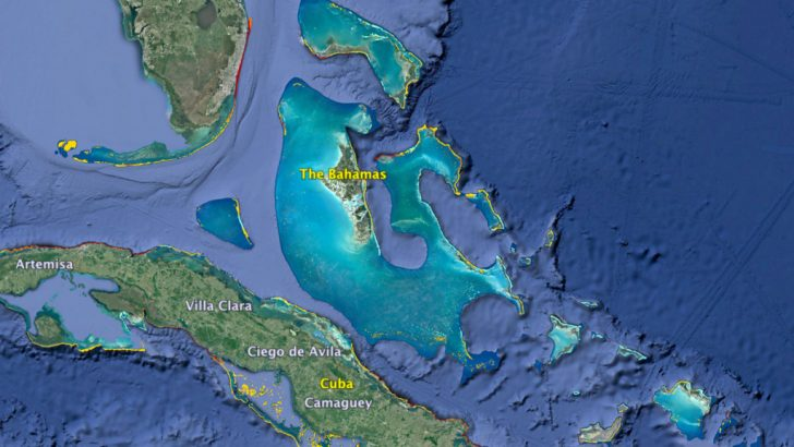 Coral Reefs In Florida Map