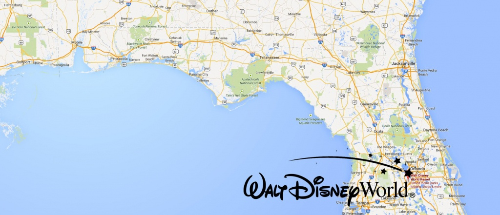 Where Is Disney World Located In Florida Map | Danielrossi - Map Of Florida Showing Disney World