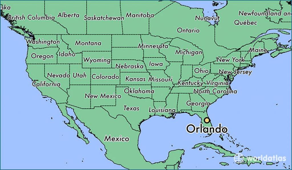 Where Is Orlando, Fl? / Orlando, Florida Map - Worldatlas - Map Of Orlando Florida Area