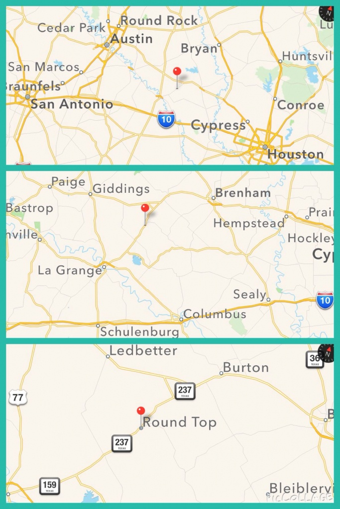 Where Is Round Top Texas ? #roundtop Wwww.roundtoptexasantiques - Round Top Texas Map