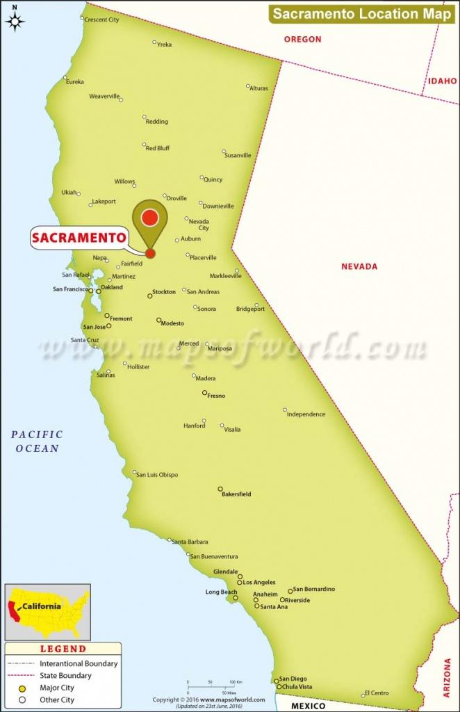 Where Is Sacramento Located In California, Usa - Sacramento California Map