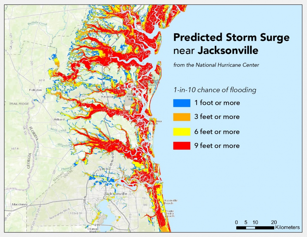 Where Will Hurricane Matthew Cause The Worst Flooding? | Temblor - Flood Zone Map South Florida