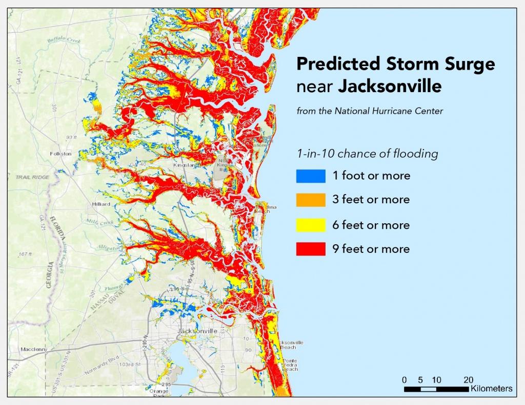 Where Will Hurricane Matthew Cause The Worst Flooding? | Temblor - Florida Flood Map