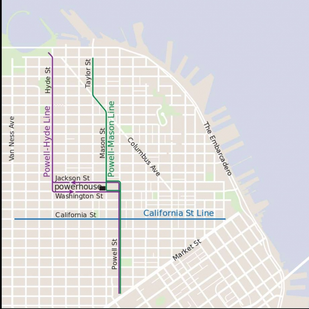 Which Sf Cable Car Route Is Right For You? Here's An Introduction - Printable Map San Francisco Cable Car Routes