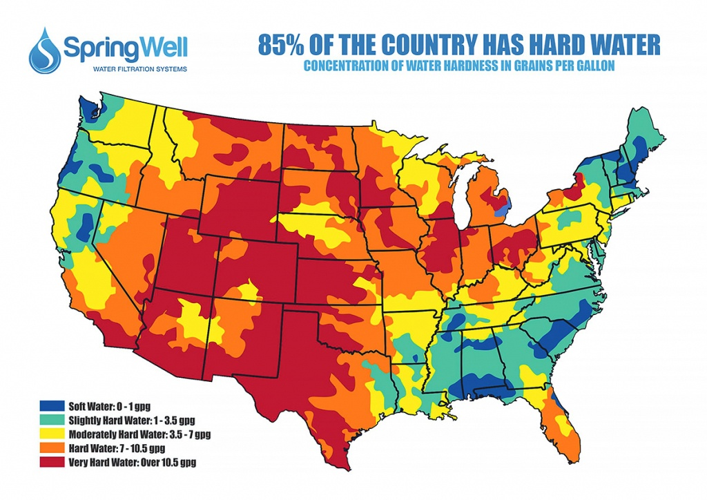 Whole House Lead & Cyst Removal System With Salt Based Softener - Florida Water Hardness Map