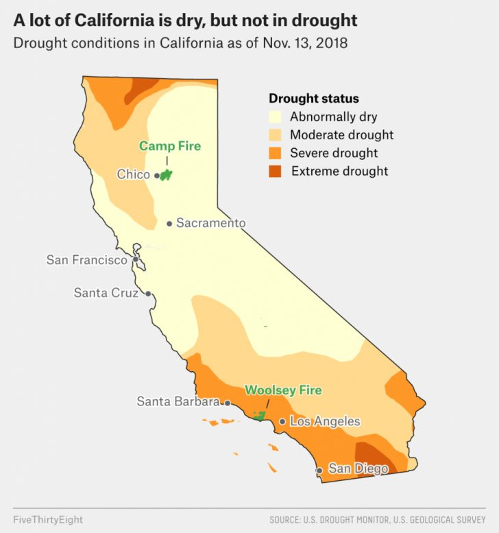 2017 California Wildfires Map