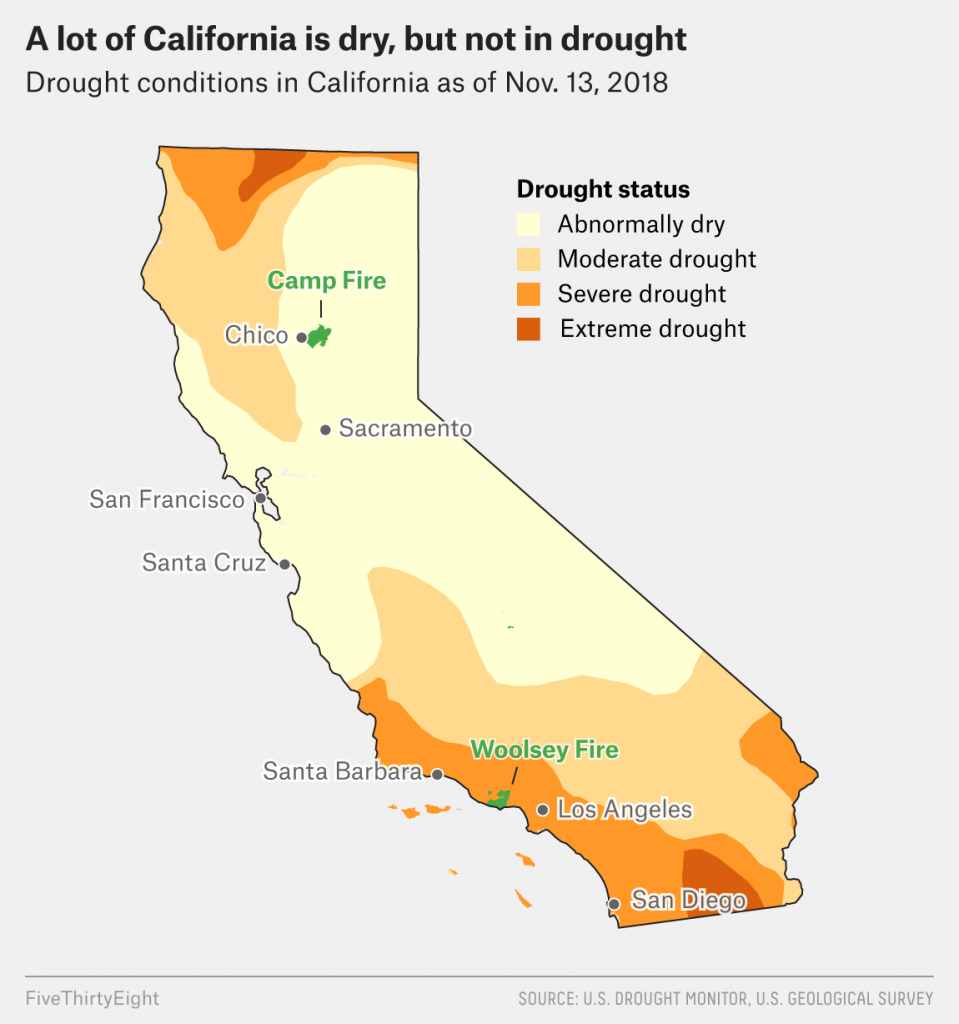 Why California's Wildfires Are So Destructive, In 5 Charts - Fire Map California 2018