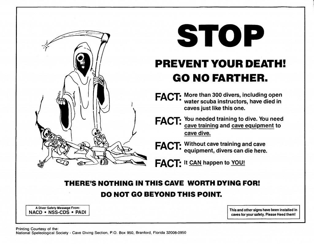 Why Cave Diving Is The Most Dangerous Activity - Cave Diving Warning - Florida Cave Diving Map