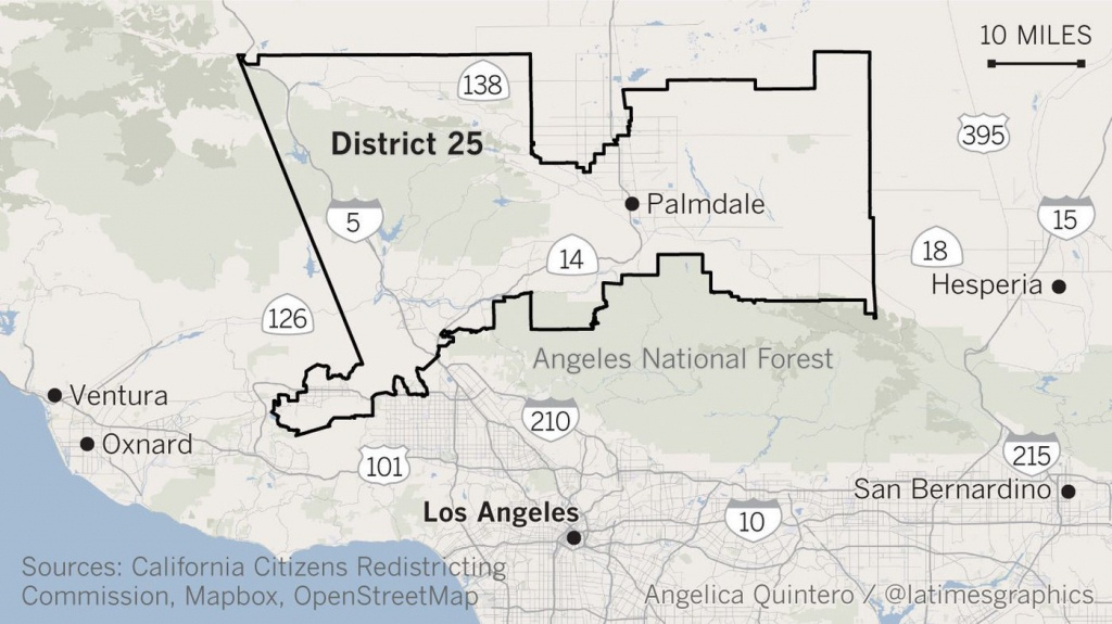 Will Democrats Blow Another Chance To Unseat Gop Steve Knight In - California 25Th District Map