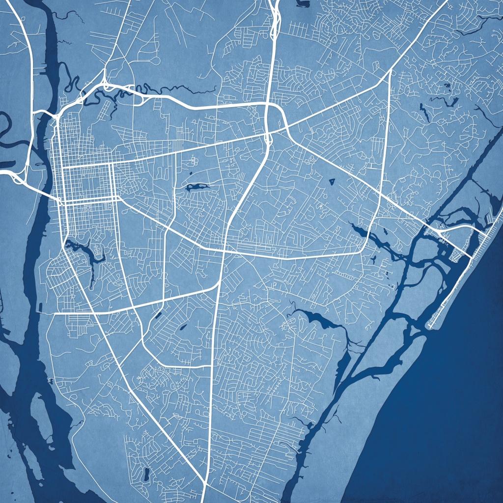 Wilmington, North Carolina Map Art - The Map Shop - Printable Map Of Wilmington Nc