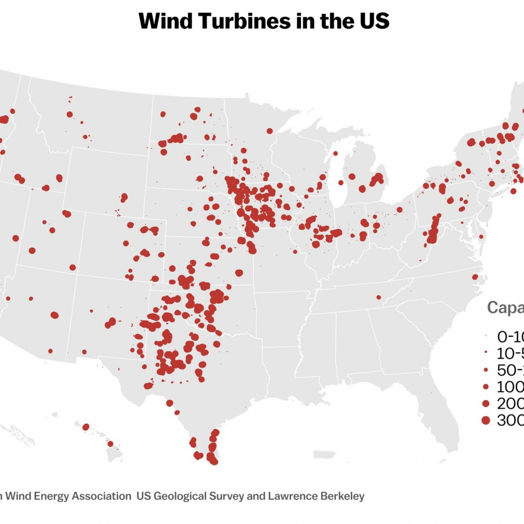 Wind Energy's Lopsided Growth In The Us, Explained With 4 Maps - Vox - Wind Farms Texas Map