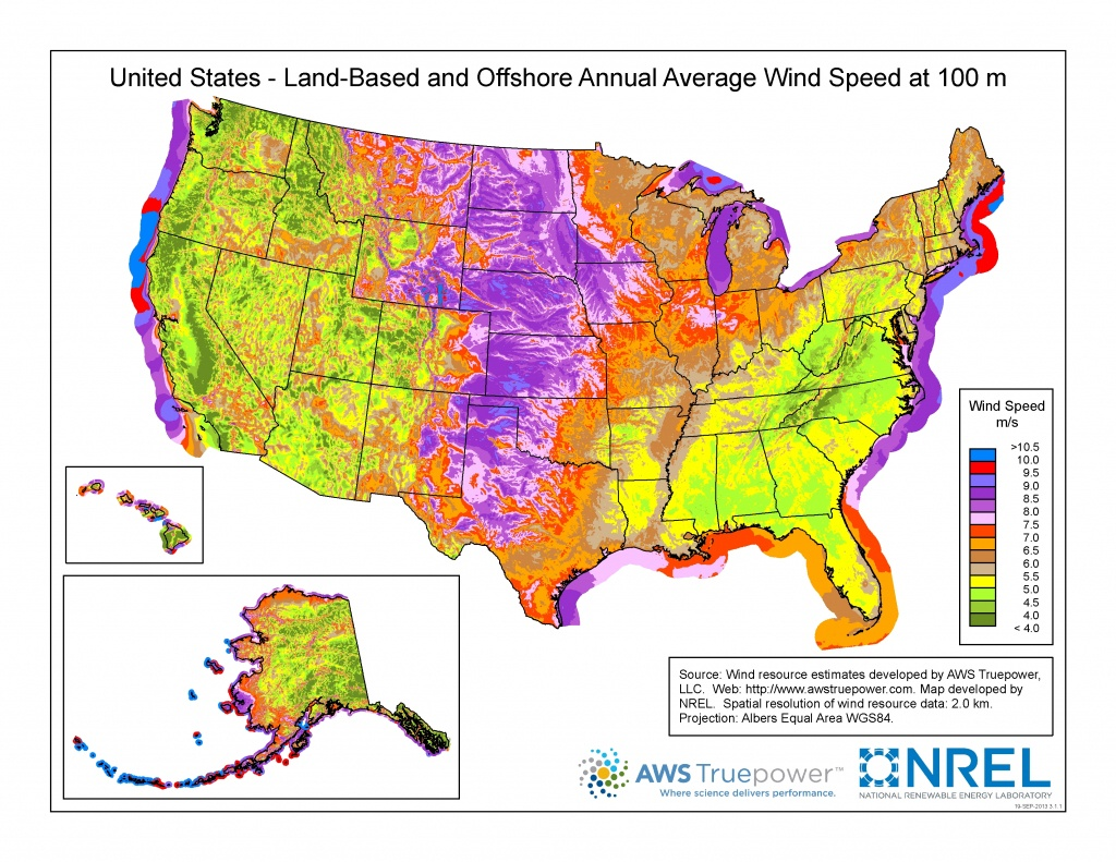 Wind Maps | Geospatial Data Science | Nrel - Florida Wind Speed Map