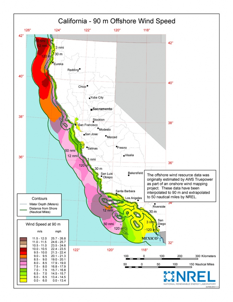 Windexchange: Wind Energy In California - Real Time Wind Map California