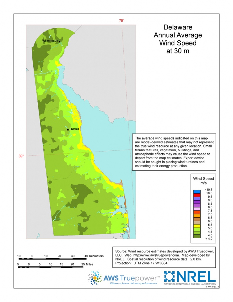 Windexchange: Wind Energy Maps And Data - Florida Wind Speed Map