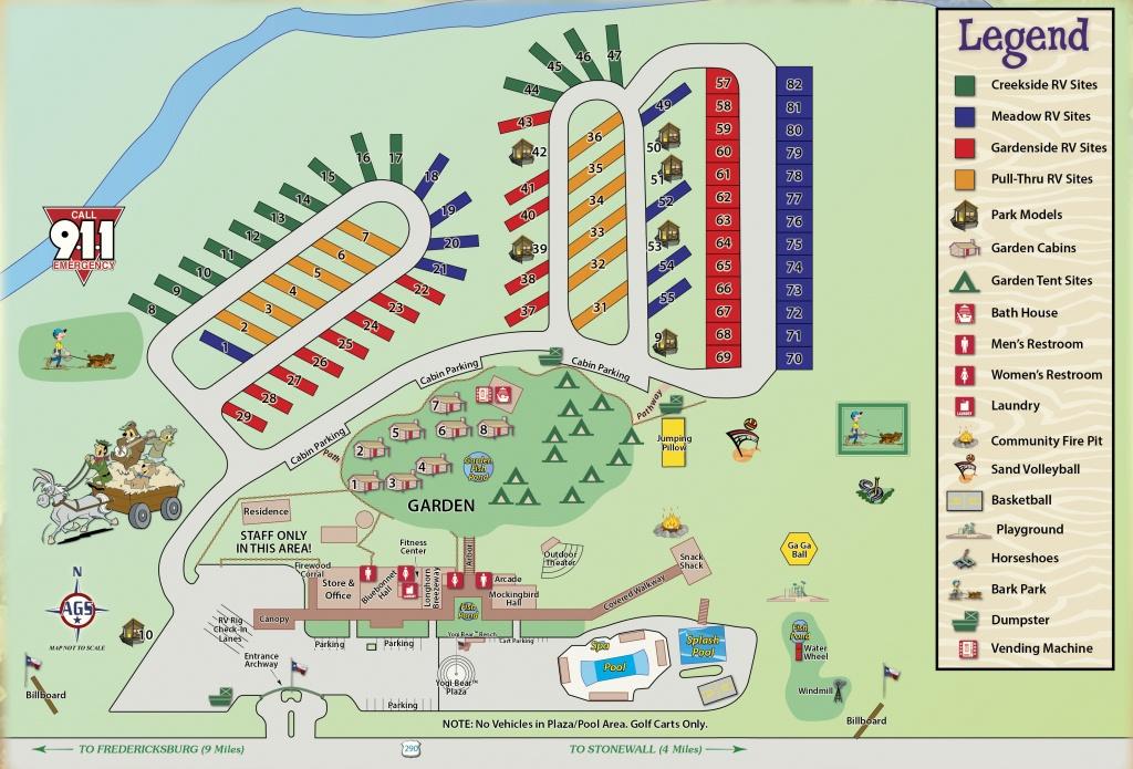 Wine Country Area Camping In Texas | Yogi Bear's Jellystone Park - Fredericksburg Texas Winery Map