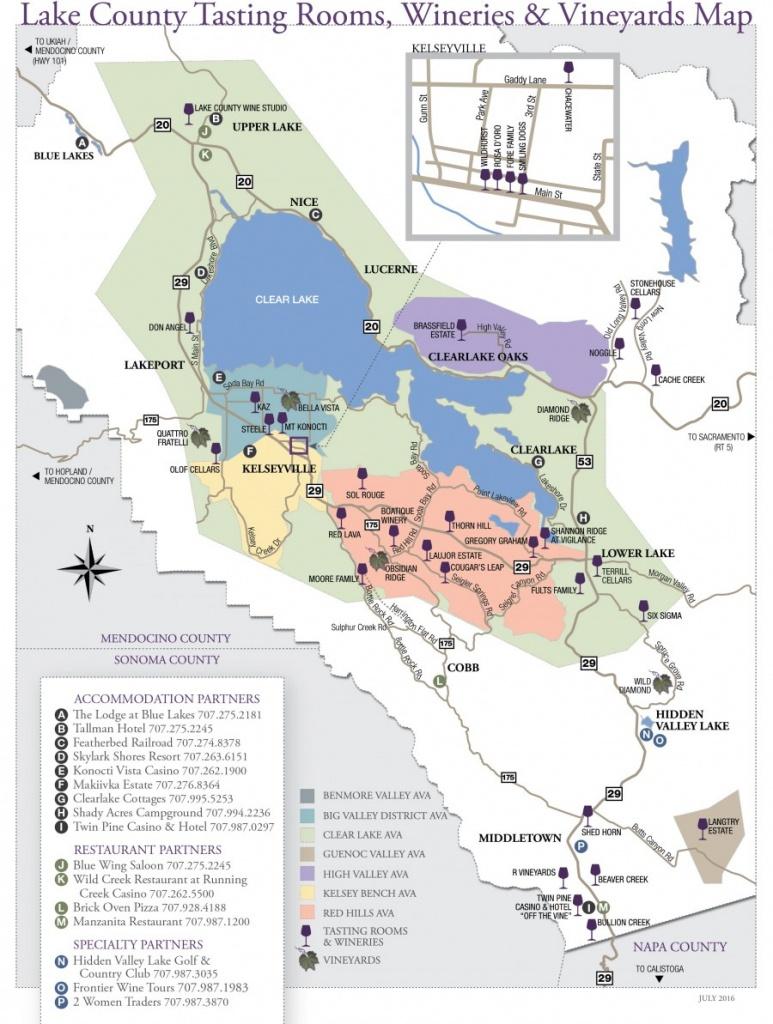 Wine Tasting - Lake County - California Wine Country Map
