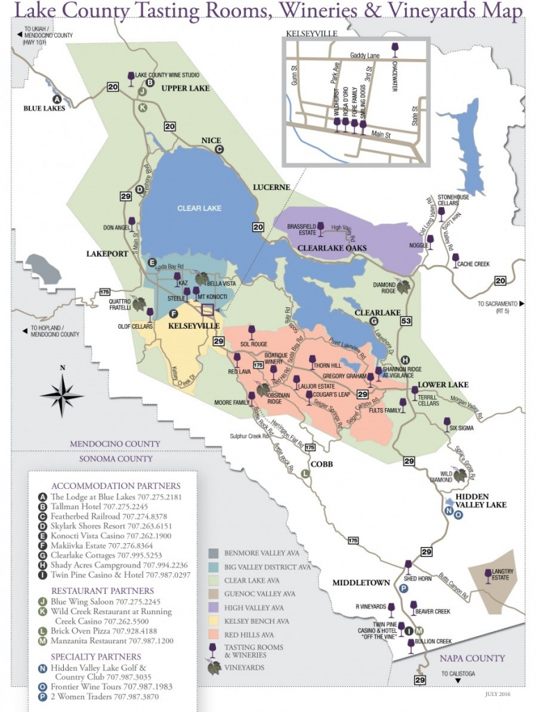 Wine Tasting - Lake County - Wine Country Map Of California