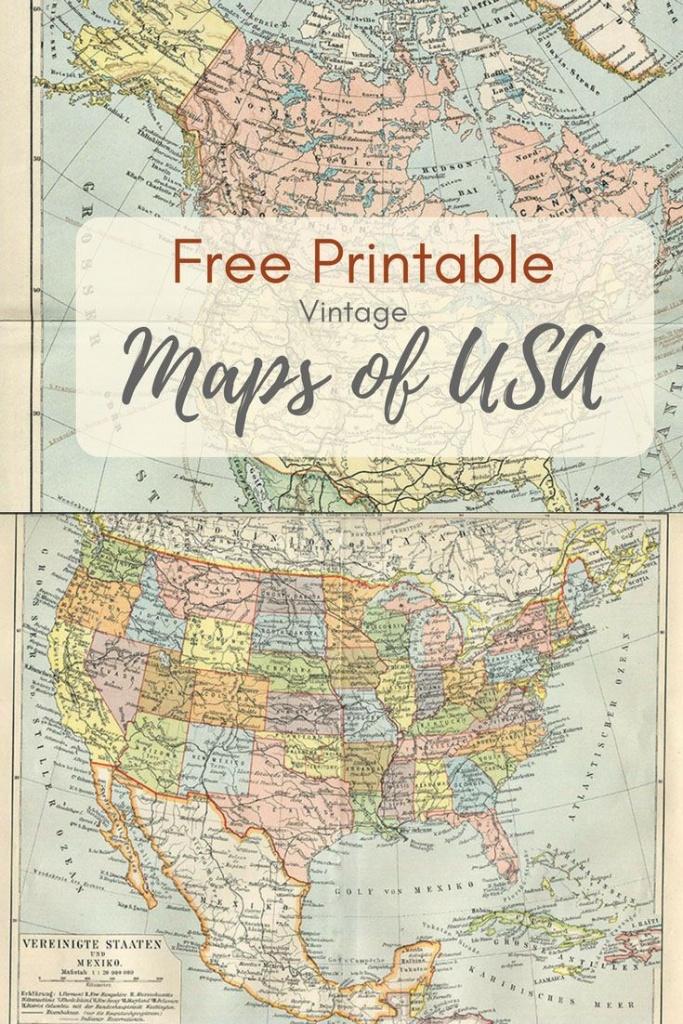 Wonderful Free Printable Vintage Maps To Download | Craft Ideas - Free Printable Maps