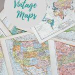 Wonderful Free Printable Vintage Maps To Download   Pillar Box Blue   Free Printable Vintage Maps
