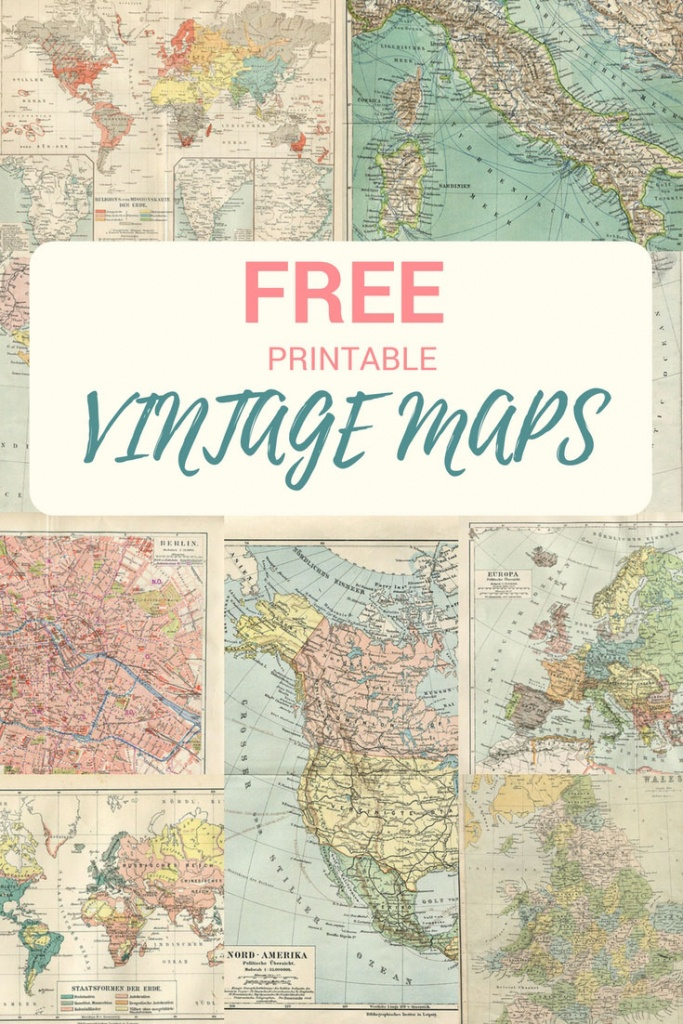 Wonderful Free Printable Vintage Maps To Download - Pillar Box Blue - How To Create A Printable Map
