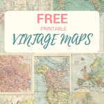 Wonderful Free Printable Vintage Maps To Download - Pillar Box Blue - Printable Map Banner