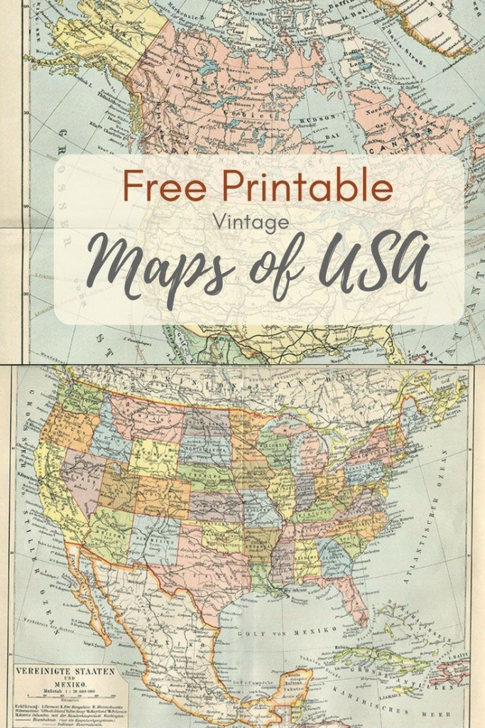 Free Printable Usa Map