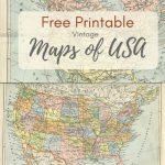 Wonderful Free Printable Vintage Maps To Download   Printables   Map   Free Printable Vintage Maps