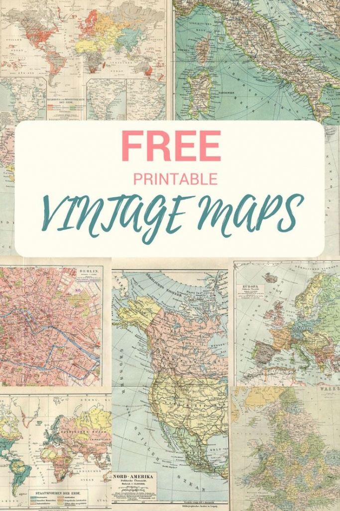Wonderful Free Printable Vintage Maps To Download | Voyages - Printable Antique Maps Free