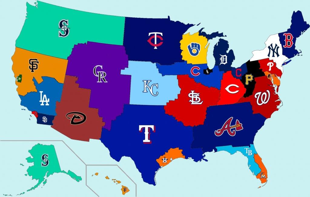 Working On Photoshop Skills; Made A Geographic Mlb Fanbases Map - California Baseball Teams Map