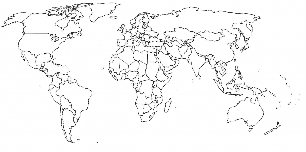 World Map Countries Fill In New Blank With Border Printable Africa - Printable Blank World Map With Countries