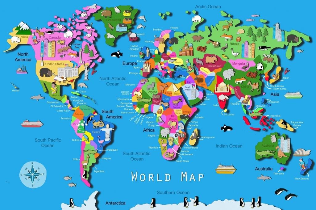 World Map Download Big Size Fresh World Map Kids Printable Valid - World Map Puzzle Printable