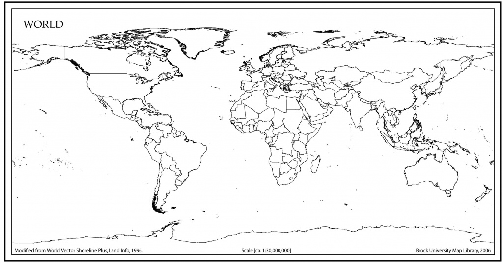 World Map Outline With Countries | World Map | World Map Outline - Blackline World Map Printable Free