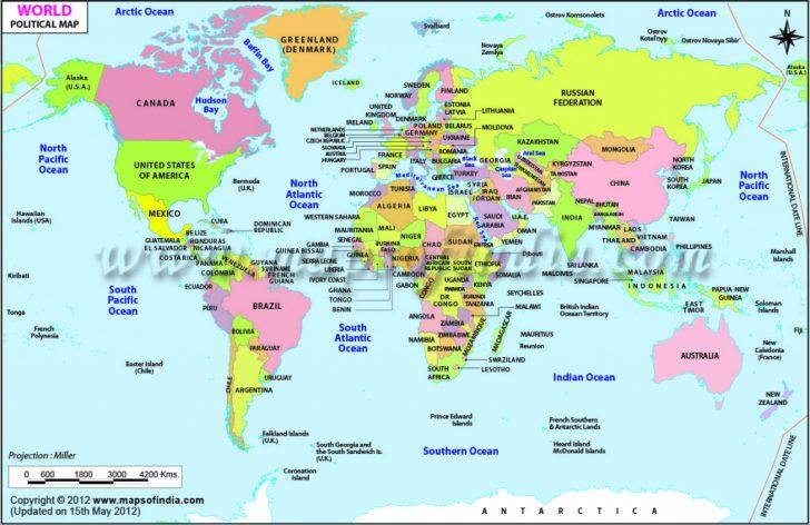 8X10 Printable World Map
