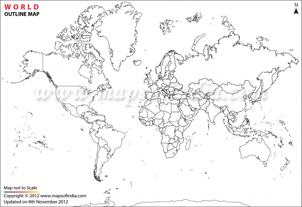 World Map Printable, Printable World Maps In Different Sizes - Free Printable World Map Outline