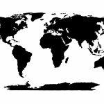 World Map Stencil | Templates | World Map Template, Blank World Map, Map   World Map Stencil Printable