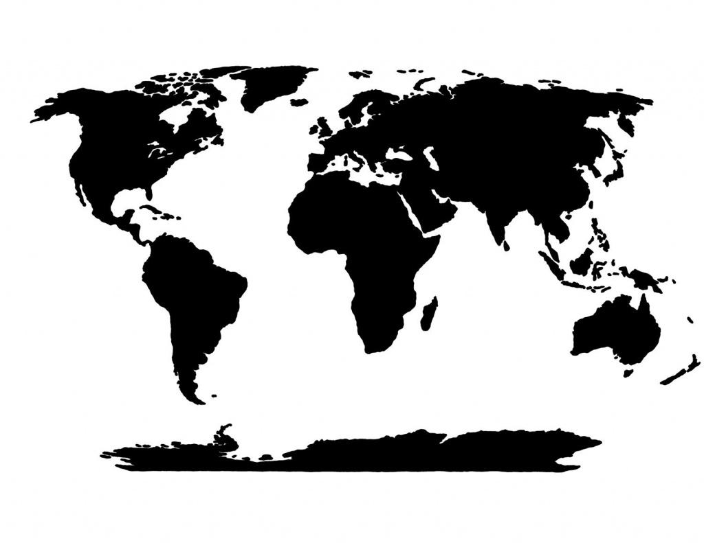 World Map Stencil | Templates | World Map Template, Blank World Map, Map - World Map Stencil Printable