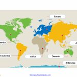 World Map With Continents   Free Powerpoint Templates   Continents Of The World Map Printable