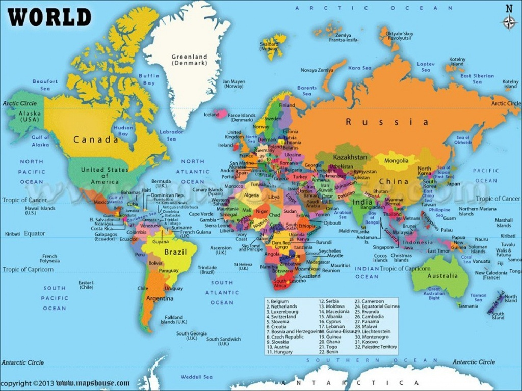 World Map With Countries Labeled My Blog Best Of Within The 4 - Free Printable World Map With Countries Labeled