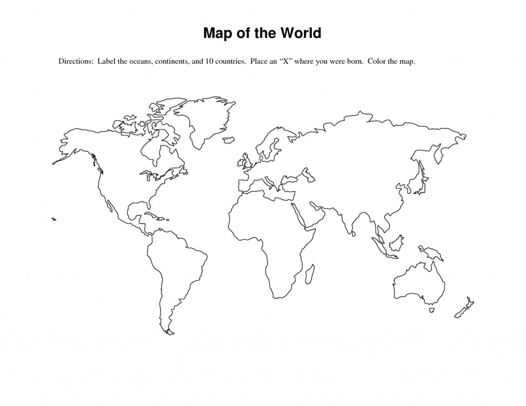 World Map Worksheet - Free Maps World Collection - Free Printable World Map Worksheets
