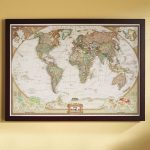 World Political Map (Earth-Toned), Poster Size And Framed | Turning - National Geographic World Map Printable