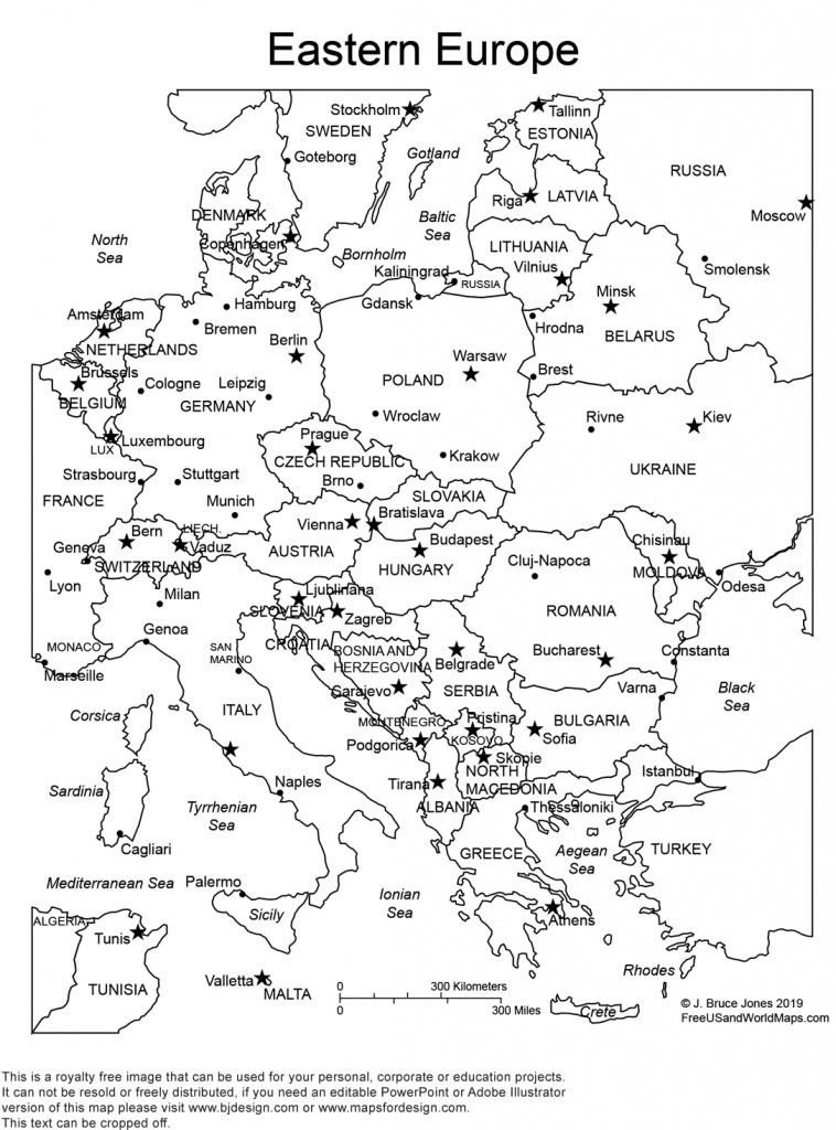 World Regional Europe Printable, Blank Maps • Royalty Free, Jpg - Printable Blank Map Of Italy