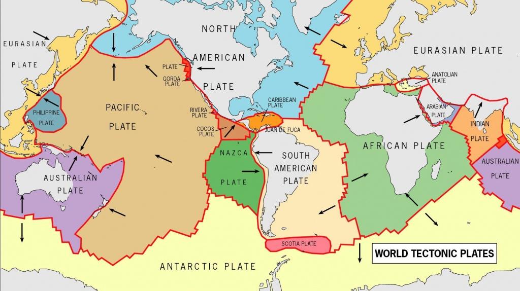 World Tectonic Plates And Their Movement - Yahoo Image Search - World Map Tectonic Plates Printable