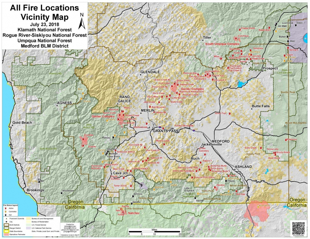 Worth A Thousand Words Or More: Southern Oregon Fire Map   Jefferson - Oregon California Fire Map