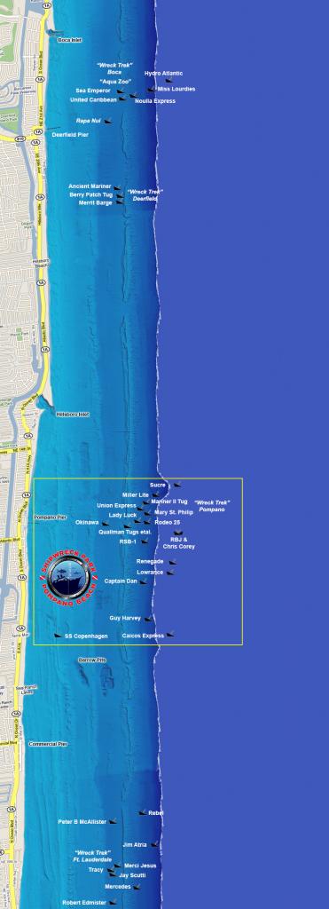 Wreck Diving Sites - South Florida Diving Headquarters - Florida Wreck Diving Map