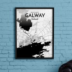 Wrought Studio 'galway City Map' Graphic Art Print Poster In Ink   Galway City Map Printable