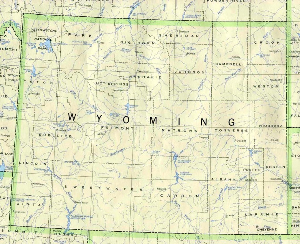 Wyoming Maps - Perry-Castañeda Map Collection - Ut Library Online - Printable Map Of Wyoming