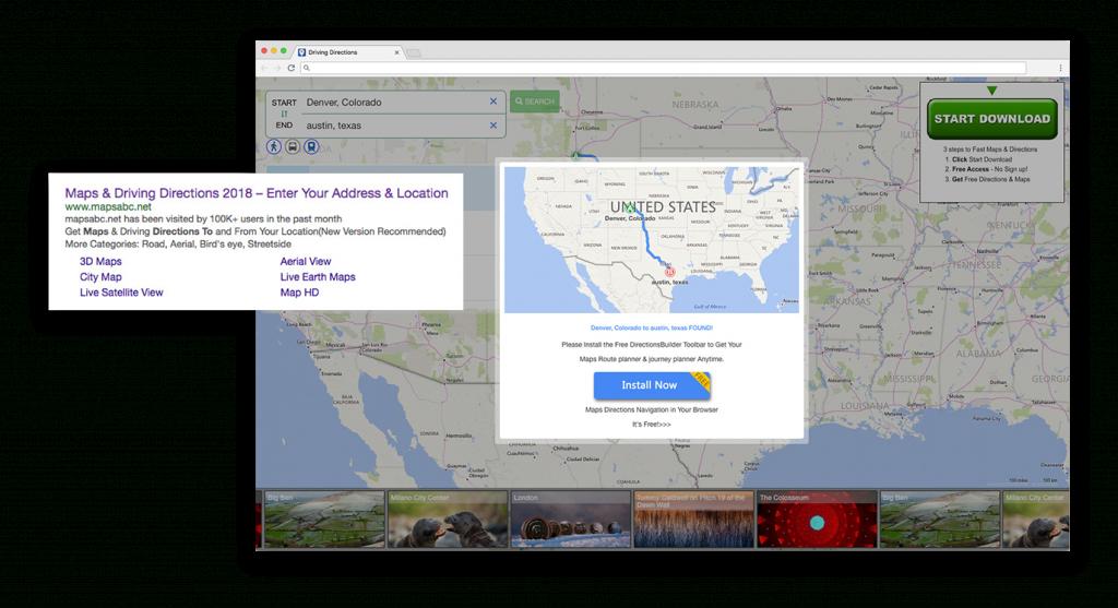 Yahoo Browser Extension – Steve Calvert Design - Yahoo Map Texas