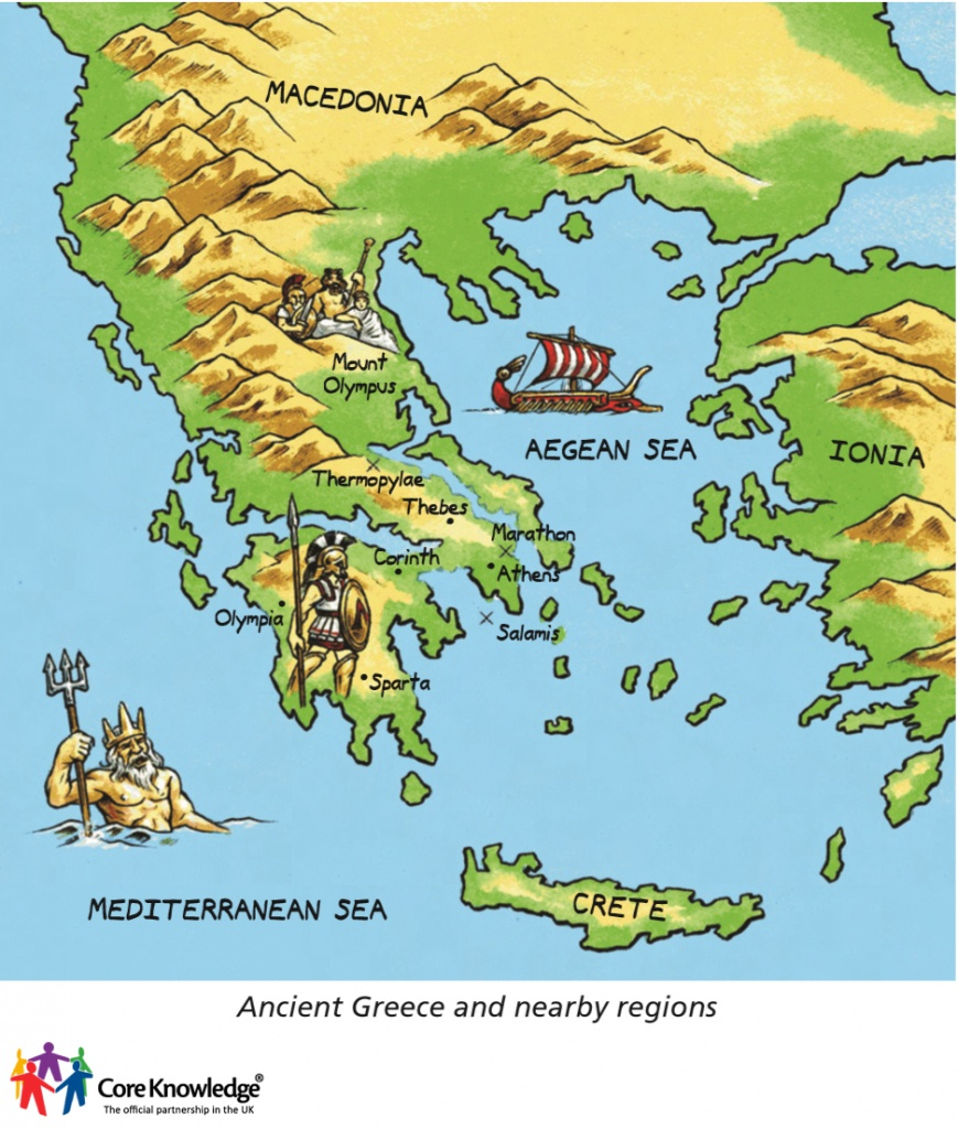 Year 3: Ancient Greece (5 Lessons) - Ancient Greece Map For Kids Printables