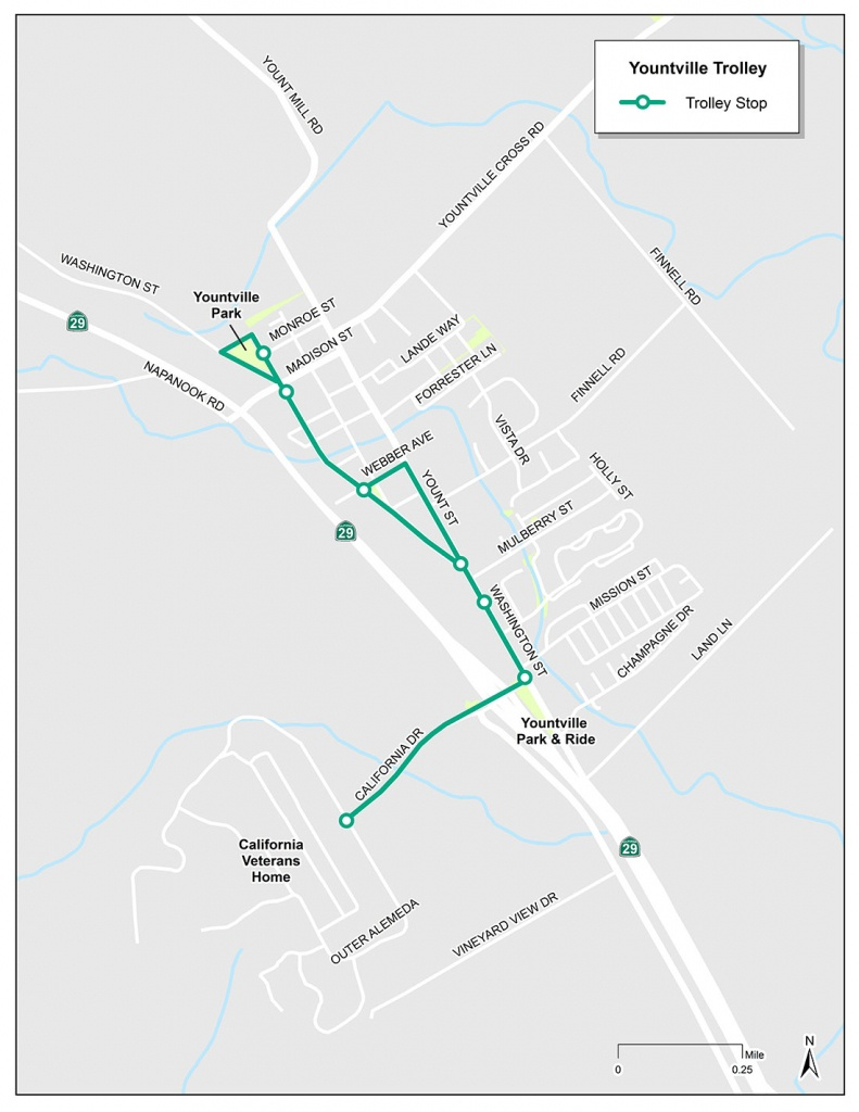 Yountville Trolley | Vine Transit - Where Is Yountville California On The Map